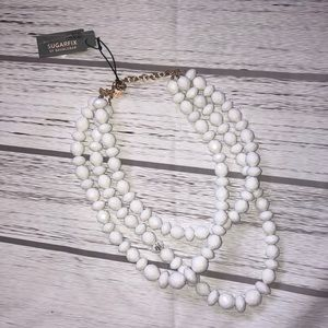 NWT White Chunky Necklace